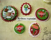Christmas Paper Embellishments, Paper Ornaments  for Scrapbooking Cards Mini Albums Tags and Papercrafts