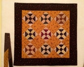RESERVED for CHERE -Quilted Table Runner / Table Topper/ Primitive Decor / Handmade Fall Decor / 18 x 18