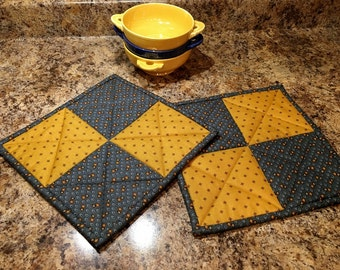 Quilted Potholders, Hotpads, Handmade Hot Pads - MW