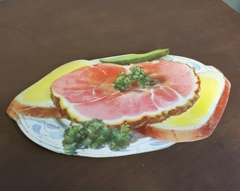 Vintage Ham Sandwich Diner or Grocery Sign