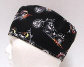 Mens Scrub Hat or Surgical Cap with Motorcycles