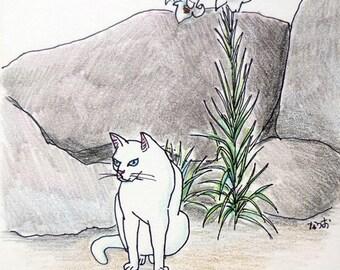 Cat original drawing - P003August2016