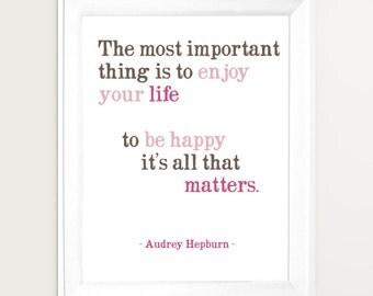 Audrey Hepburn art, Audrey Hepburn quote