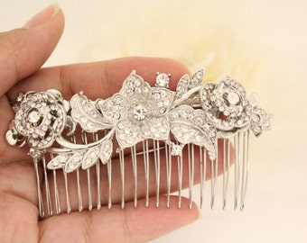 Rhinestone Wedding hair comb,Bridal hair clip,Wedding hair accessories,Bridal headpiece,Wedding hair piece,Bridal hair comb,Crystal haircomb