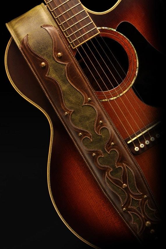 leather guitar strap padded guitar strap custom guitar. Black Bedroom Furniture Sets. Home Design Ideas