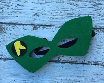 Layered Robin Felt Mask Robin Mask Superhero Mask Birthday Mask