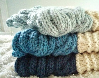 Hand knitted Heirloom Baby Blanket and Playmat Seascape