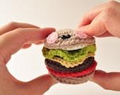 Crochet Hamburger Pattern, Amigurumi Pattern, Amigurumi Cheeseburger, Burger Crochet Pattern, DIY Hamburger Pattern