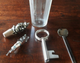Home Bar Cocktail Shaker W Accessories