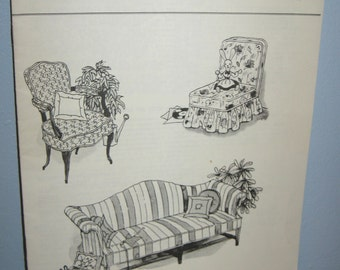 """How to Make Slip Covers Good Housekeeping Needlework and Sewing Center Copyright 1965 8-1/2"""" x 11""""  16 Pages"""