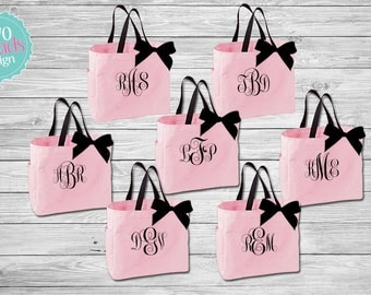 bridal party tote bags , Bridesmaid Totes , bridesmaid gifts , Bridal Party Gift, Bridesmaid Tote Bag, Monogrammed Bag, Monogrammed Totes
