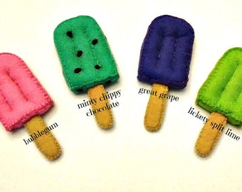 Felt Popsicles...get 'em while it's HOT!