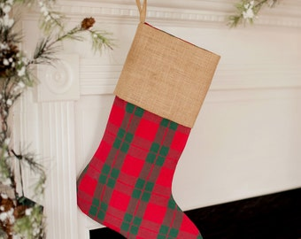 Holiday Plaid stocking - personalized for you...