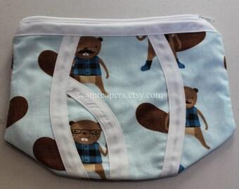 bearded beaver underwear zipper purse