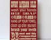 Cowboy Bathroom Rules Wood Sign, Western Decor, Cowboy Child Decor, Cowboy Wood Sign, Sign for Bathroom, Bathroom Decor, Country Decor