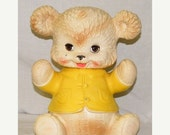 Year End Sale Vintage 1962 Edward Mobley Teddy Bear Squeeze Squeak Toy