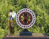 "Miniature Carnival Wheel w/ Stand 14"" Tall"