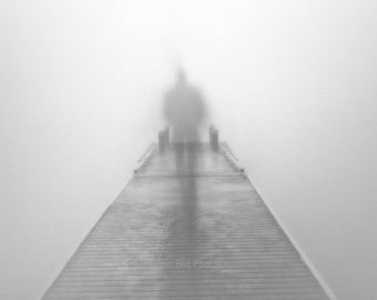 Black and white photography, surreal photography, ghostly, deam, fog photography, The Journey, 8 x 10 print