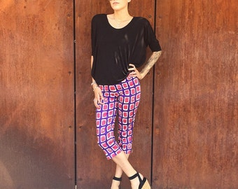 1980s CHANEL LEGGINGS with CC Print