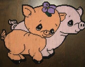 Two Little Piggies Plastic Canvas Pattern