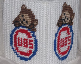 Cubs 2 Tissue Box Cover Plastic Canvas Pattern