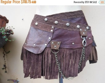 """20%OFF .... bohemian tribal gypsy fringed leather belt..34"""" to 42"""" waist or hips.."""