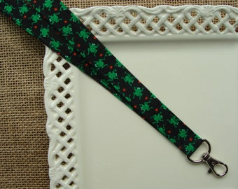 Fabric Lanyard - Frogs at Midnight