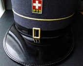 Vintage Swiss PTT Cap Hat Military Army Police Rare 1970s Collectibles
