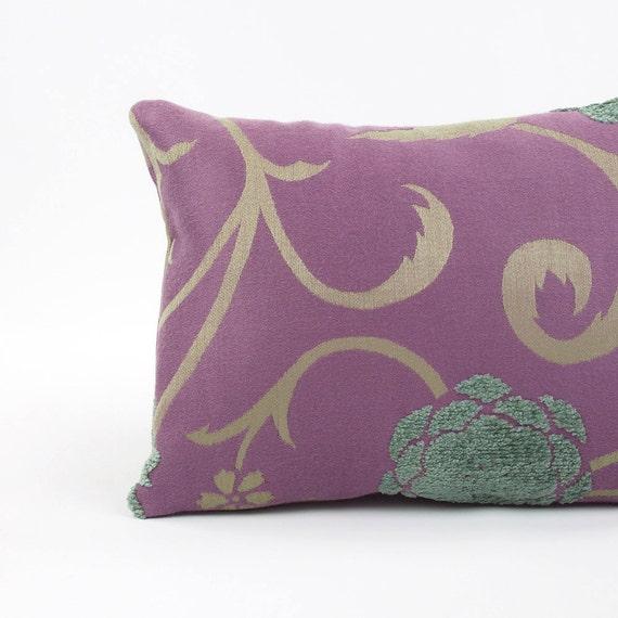 Purple And Gray Decorative Pillows : Purple & Gray Boudoir Pillow Cover 12x16 Purple Pillow Throw