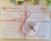 Recipe Cards 4 x 6 Set of 12 Mothers Day Gift House warming Bridal Shower