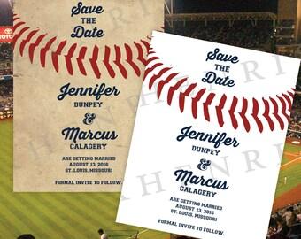 Baseball Save the Date - Wedding invite - digital - DIY