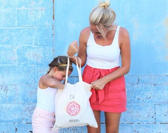 Donut Tote Bag | Farmers Market Tote | Printed Tote | Reusable Tote | Oh Donut Even | Oh Doughnut Even | Donut Bag | Doughnut Tote Bag