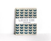 Linen wallet · Mens billfold wallet · Womens billfold · Chevron · Hand screen printed linen wallet · Fabric wallet · Men's wallet