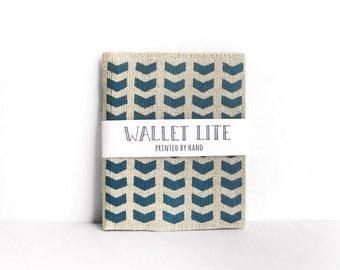 Linen wallet · Mens billfold wallet · Womens billfold · Chevron · Hand screen printed linen wallet · Fabric wallet · Men's wallet
