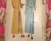 Vintage McCall 5320 Misses' Housecoat Sewing Pattern Bust 42