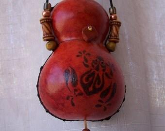 Rust gourd frog medicine bag necklace. 1902.