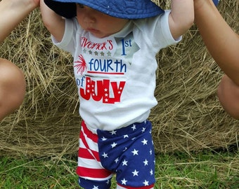 4th of July Independemce Day Onesie - Baby Shower Gift