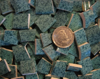 Mottled Aqua Broken Mosaic Plate Tiles ~ Pique Assiette Supplies