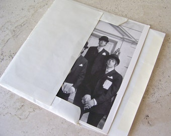 Vintage Beatles Greeting Card Blank Card Unused John Paul George and Ringo Beatles 1964