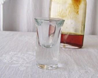 Vintage Shot Glass Tall Heavy Base Shot Glass 1 oz Libbey Mad Men 1970s