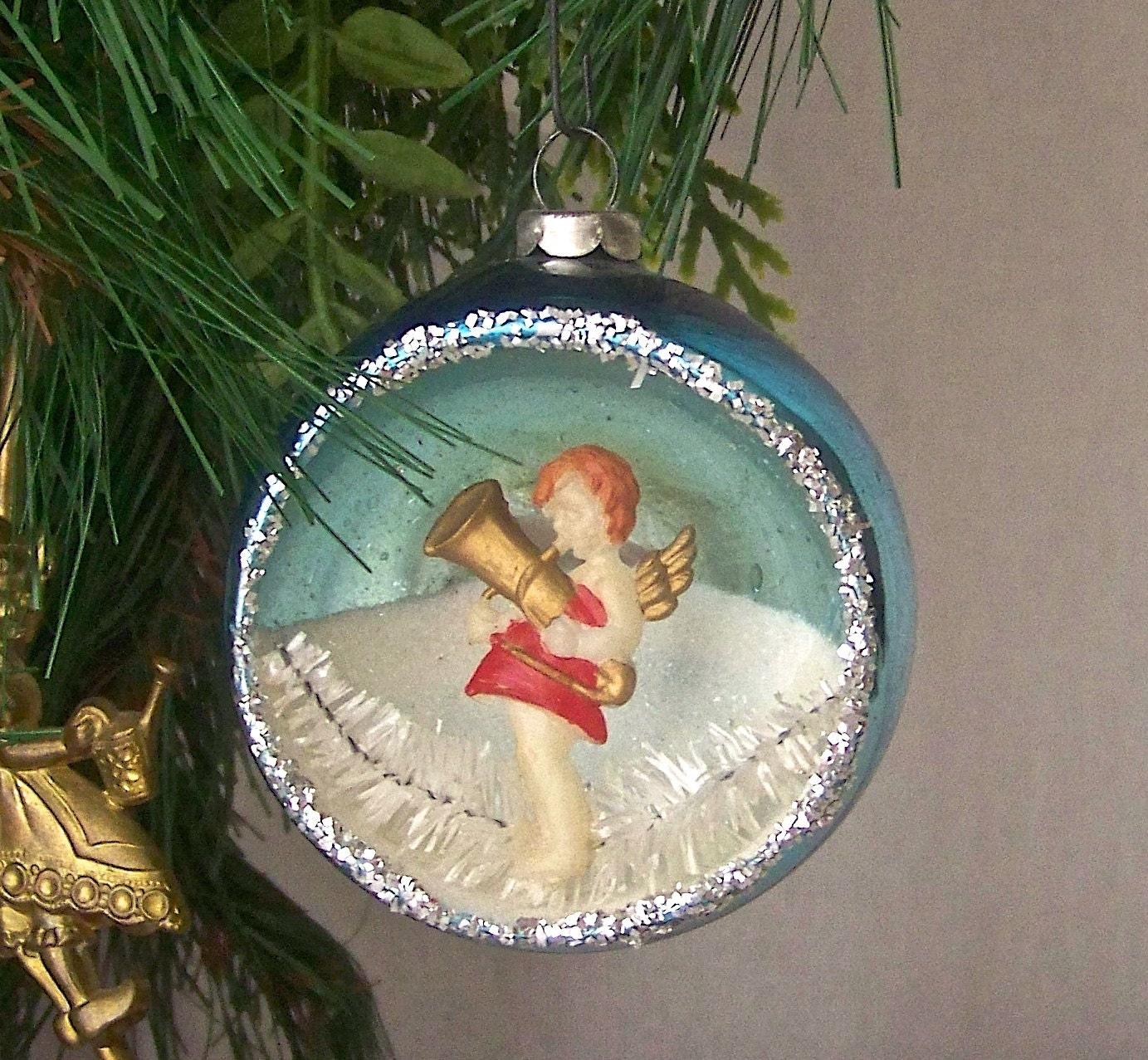 Vintage Angel Christmas Ornament Glass Ball Christmas Tree