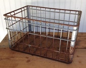 Vintage Wire Milk Crate