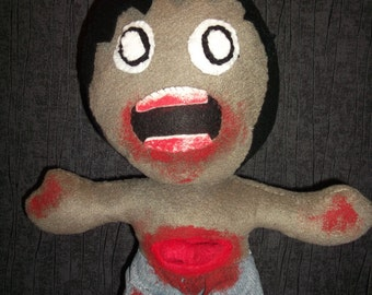 zombie plush ( also available in baby zombie form! )