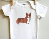 Corgi baby clothes, corgi baby clothes sizes 3 months - 18 months