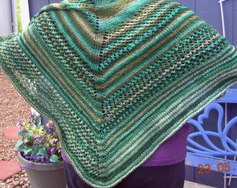 May Pole Green Knitted Shawl