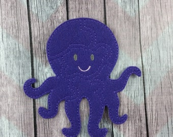 Octopus Felt Puzzle with storage board, Ocean Friend