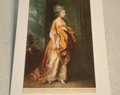 "1937 Art Print ""Mrs. Elliott"" by Thomas Gainsborough"