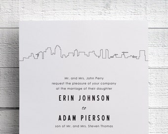 San Diego Wedding Invitation - Sample
