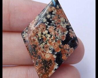 SnowFlake Obsidian GEMSTONE Bead,33x23x4mm,3.2g