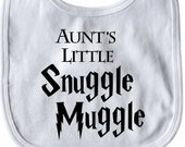 Aunt's Little Snuggle Muggle Harry Potter Baby Bib